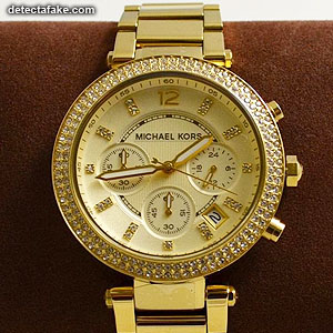 0742c2c2d5784 How to spot fake  Michael Kors Watches - 7 Steps (With Photos)