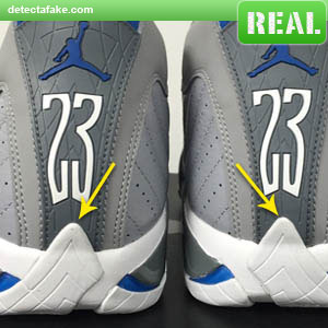 5ec2c151437 How to spot fake  Nike Air Jordan XIV (14) Retro - 9 Steps (With Photos)