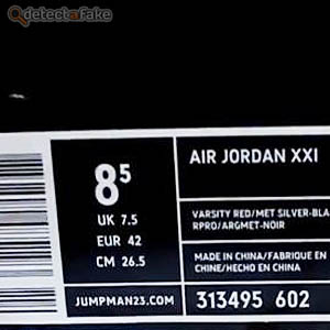 Nike Air Jordan XXI (21) Retro - Step 1, picture 2
