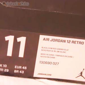 1d5f52b15b6 How to spot fake: Nike Air Jordan XII (12) Retro - 9 Steps (With Photos)