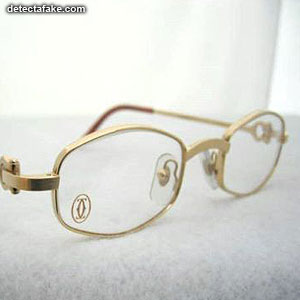 c1e4f8ec5cf How to spot fake  Cartier Glasses - 5 Steps (With Photos)