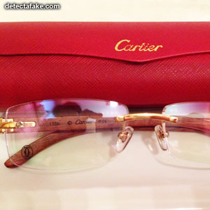 7aa17f96ced How to spot fake  Cartier Glasses - 5 Steps (With Photos)