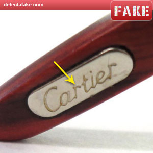 cb2a3ee6eed3 How to spot fake  Cartier Glasses - 5 Steps (With Photos)
